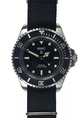 $ CDN251.26 • Buy MWC 1000ft/300m WR Military Divers Watch With Mecanical / Quartz Hybrid Movement