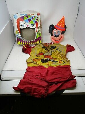 $ CDN6.30 • Buy Vintage Ben Cooper Halloween Costume *MICKEY MOUSE (MAGICIAN)* Size L 12-14