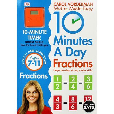 £7 • Buy 10 Minutes A Day: Fractions By Carol Vorderman (Paperback), Books, Brand New