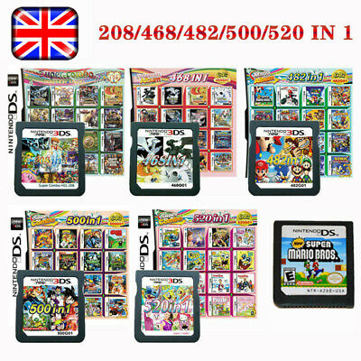 All In 1 Video Game Cartridge Console Card For Nintendo NDS NDSL 2DS 3DS NDSI UK • 11.99£