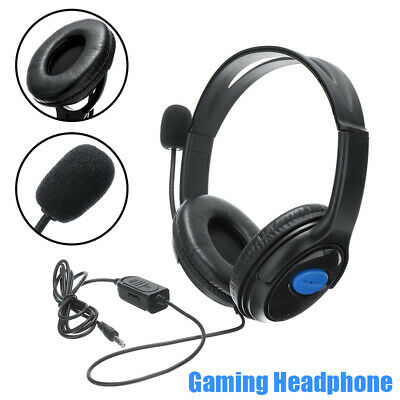 For Sony PS4 PC Laptop 3.5mm Gaming Headset Stereo Headphone Earphone With Mic • 5.89£