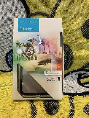 AU26.08 • Buy LifeProof SLAM Case For IPhone 7 Plus/iPhone 8 Plus Midnight/Lime Green