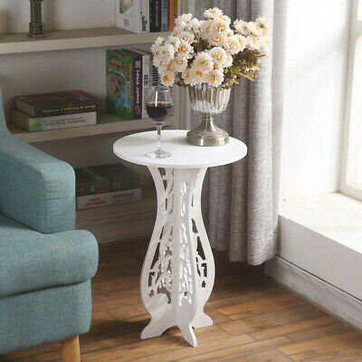 £9.49 • Buy White Small Round Square Side Table Beside Coffee Plant Stands Modern Furniture