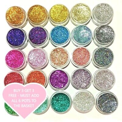 Glitter Pots Chunky Fine Holographic Eyes Lips Face Body Hair Craft Nail-Art  • 1.69£
