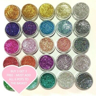 Glitter Jars Chunky Fine Holographic Eyes Lips Face Body Hair Craft Nail-Art  • 1.69£