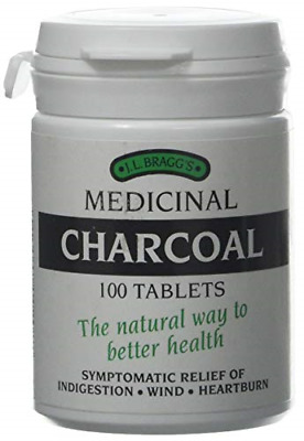 £9.23 • Buy Bragg's Medicinal Charcoal 100 Tablets Natural Food For Indigestion And Detox...