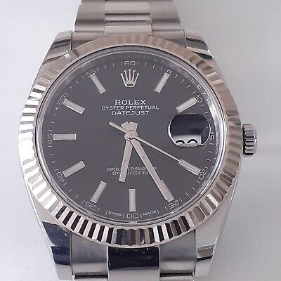 $ CDN13211.21 • Buy W/ Papers Rolex Datejust II 41 Mm 126334 Steel Automatic Black Oyster Watch 2018