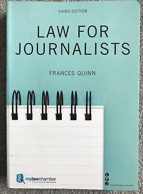 £2 • Buy Longman Practical Journalism Series: Law For Journalists By Frances Quinn
