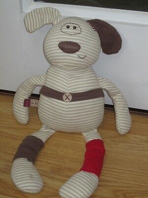 Mamas & Papas Soft Toy 15  Puppy Dog D Is For Dog Baby Comforter  • 6.99£