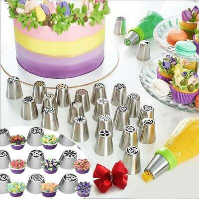 7-22PCS Russian Leaf Flower Icing Piping Nozzle Tips Cake Topper Baking Tools • 9.89£
