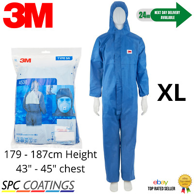 £8.99 • Buy 3M ™ 4530 Protective Coverall / Overall Paint Dust Type 5/6 Extra Large