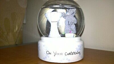 £6.99 • Buy Me To You Bear Tatty Teddy Snow Glitter Water Globe ON YOUR CHRISTENING