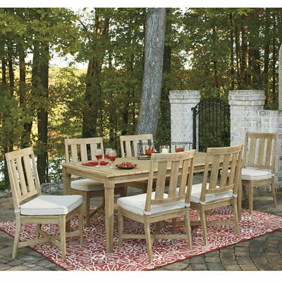 AU3590 • Buy Dakota Outdoor Timber 6 Seater Dining Table And Chairs Furniture Setting | Patio
