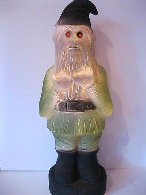 $ CDN39.99 • Buy Blow Mold Halloween Zombie Gnome Red Eyes Lighted Union Products