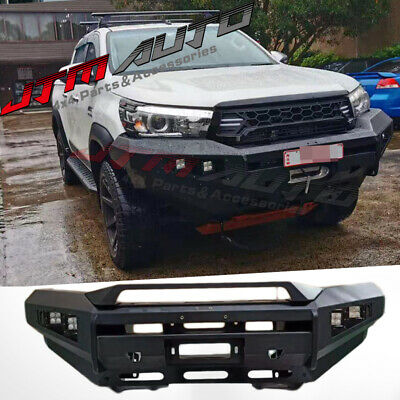 AU1050 • Buy Heavy Duty Deluxe Bull Bar Winch Compatible To Suit Toyota Hilux N80 2015-2018