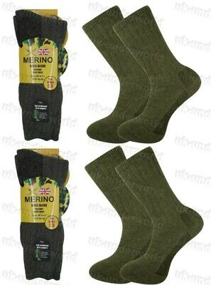 £5.95 • Buy Mens Military Thermal Army Socks 2 Pairs Warm Hiking Walking Work Boots 6-11