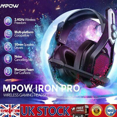 £42.39 • Buy Wireless Pro Gaming Headset With Mic For XBOX One PS4 Headphones Microphone 2021