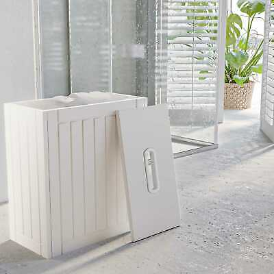 White Wooden Bathroom Tidy Box Toilet Roll Cleaning Bottle Storage Unit • 17.98£