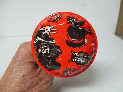 $ CDN22.84 • Buy Vintage Tin Halloween Noisemaker - US Metal Toy Co - Bell Rattle