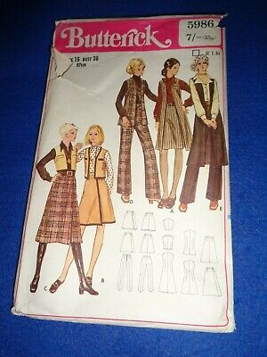 Vintage Butterick Sewing Pattern  - Lady's Trousers/skirt/waistcoat   Size 16 • 3.50£