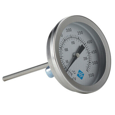 Dial Stainless Steel Pointer Oven BBQ Thermometer Temperature Meter Gauge • 4.99£