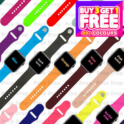 $ CDN6.79 • Buy For Apple Watch Strap Band IWatch Series 6 SE 5 4 3 38/40/42/44mm SILICONE Sport