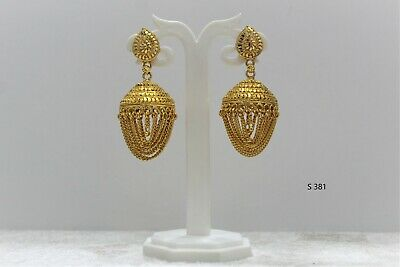 £4.99 • Buy Indian Bollywood Gold Plated Earring Jumka With Chains Traditional Oxidized Uk