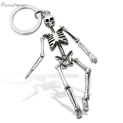 Keychain For Men Metal Alloy Skull Keychains For Couples Fashion Foldable  • 12.49£