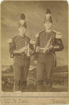 $50 • Buy Soldiers Military In Uniforms W Small Trumpets Antique Cabinet Photo Petoskey MI