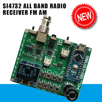 SI4732 All Band Radio Receiver FM AM (MW And SW) SSB (LSB+ USB)+Antenna And Horm • 28.99£