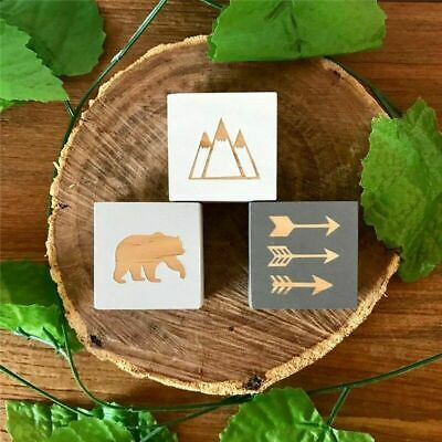 Cute Original Wooden Block Ornament Accessories For Nursery Room Decoration Gift • 16.91£