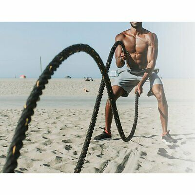 AU115 • Buy Battle Rope Dia 3.8cm X 9M Length Poly Exercise Workout Strength Training