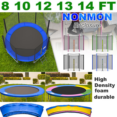 £28.99 • Buy Trampoline Replacement Safety Net Enclosure Spring Cover Pads 8 10 12 13 14 FT