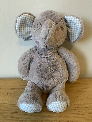 £17.99 • Buy Mothercare Elephant Baby Comforter Toy Soft Plush 1015 Grey Checked Ears. New