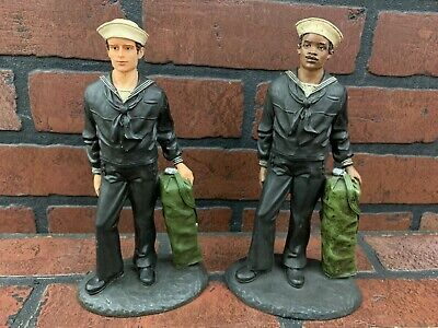 $44.95 • Buy Military Soldier Sailor Statue Figurine Lot Of 2