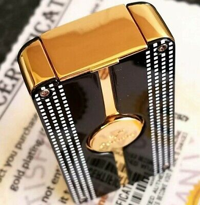 24k Gold Plated Metal Cohiba Lighter Triple Flame 3 Turbo Jet Cigar Punch Gas • 99.99£