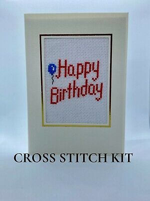 £10 • Buy Happy Birthday Card Cross Stitch Kit