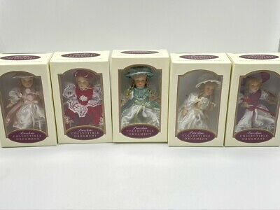 $ CDN37.86 • Buy Lot Of 5 New In Box 5  Tall DG Creations Porcelain Doll Christmas Tree Ornaments