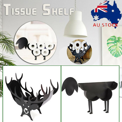 AU45.89 • Buy Toilet Paper Roll Holder Stand Metal Sheep/Deer Tissue Storage Bath Organizer AU