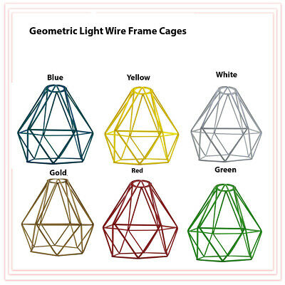 £9.31 • Buy Metal Pendant Light Shade Ceiling Industrial Geometric Wire Cage Lampshade Lamp