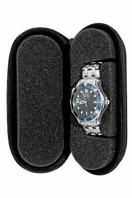 $ CDN19.60 • Buy BECO TECHNIC Fabric Single Watch Travel Case Box With Zip – Black Matte