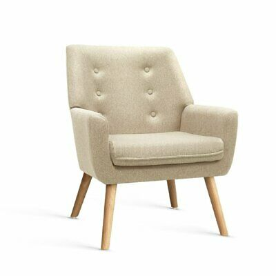AU86 • Buy Artiss Armchair Lounge Chair Upholstered Accent Armchairs Tub Chairs Single Sofa