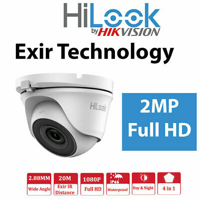 HILOOK Hikvision THC-T120-MC 2MP HD 1080p EXIR HDTVI AHD Dome Camera IP66 IR 20m • 22.99£