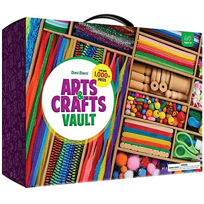 Arts And Crafts Vault - 1000+ Piece Craft Kit Library In A Box For Kids Ages 4 5 • 33£