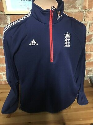 Adidas England International Cricket Training Drill Top  Barmy Army Adult Size L • 8.50£