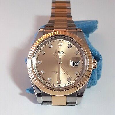 $ CDN15030.94 • Buy Rolex Datejust II 41mm Two Tone Champagne Diamonds Automatic Oyster Watch 116333