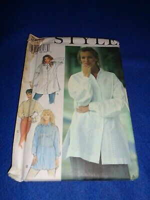 Style Sewing Pattern - Lady's Shirt In 3 Versions   1994  Sizes 6-16  Uncut • 3.50£