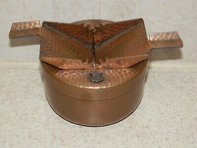 £29.25 • Buy 1920's Era Hand Hammered Copper Mechanical Ashtray Unusual Insignia 2 1/2  Tall