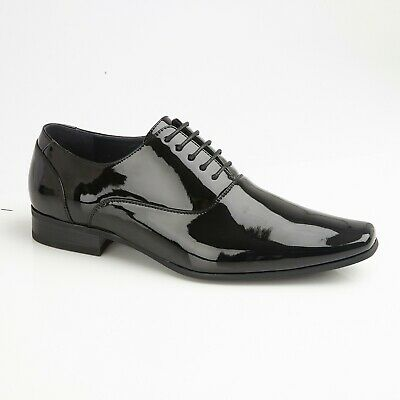 Patent Oxford Lined Formal Suit Smart Lace Up Shoes • 25.90£