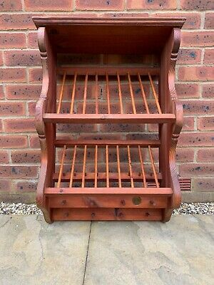 Wooden Wall Mounted  Plate Rack • 65£